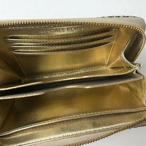 Michael Kors Bags - Michael Kors Gray Snake Skin Wristlet Wallet #1807